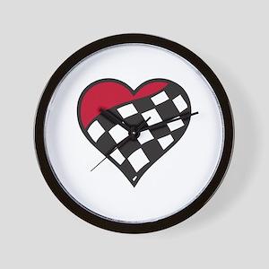 Racing Heart Wall Clock