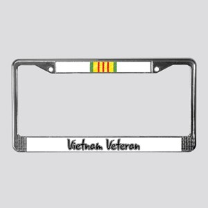 Vietnam Veteran Ribbon License Plate Frame