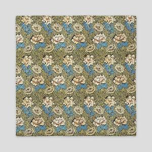 William Morris Chrysanthemum Pattern Queen Duvet