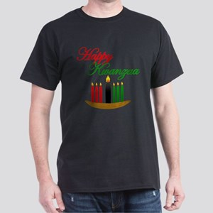 Fancy Happy Kwanzaa with hand drawn kinara T-Shirt