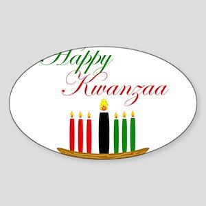 Elegant Happy Kwanzaa with hand drawn kinara Stick