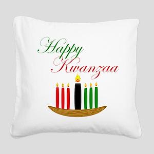 Elegant Happy Kwanzaa with hand drawn kinara Squar