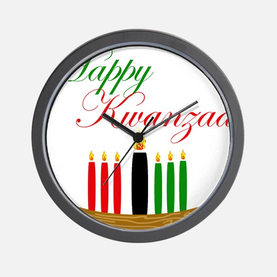 Elegant Happy Kwanzaa with hand drawn kinara Wall