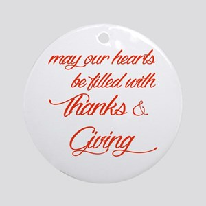 Thanks&Giving Ornament (Round)