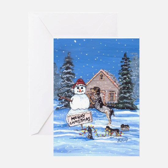 Bluetick Coonhound DFC Greeting Cards