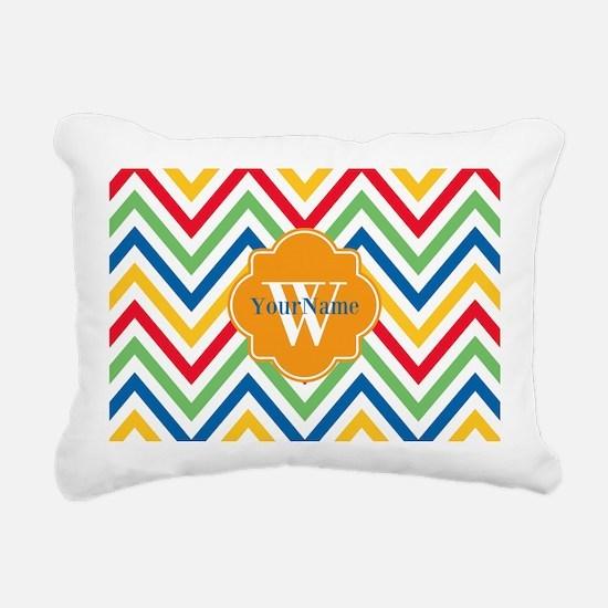 Modern Chevron Custom Mo Rectangular Canvas Pillow