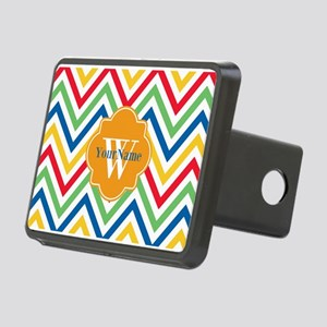 Modern Chevron Custom Mono Rectangular Hitch Cover