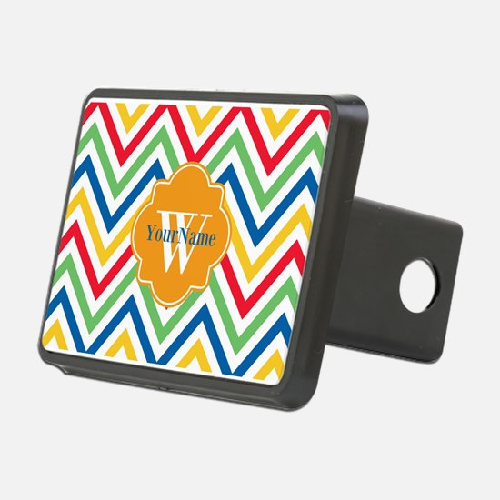Modern Chevron Custom Mono Hitch Cover