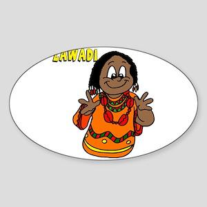 Zawadi Women with beaded necklaces Sticker