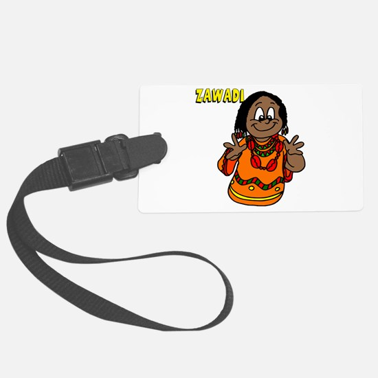 Zawadi Women with beaded necklaces.png Luggage Tag