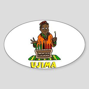 Kinara with lit candles Sticker