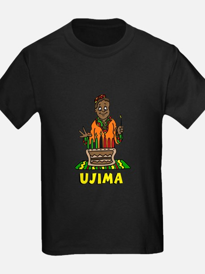 Kinara with lit candles.png T-Shirt