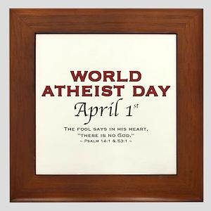 World Atheist Day - Framed Tile