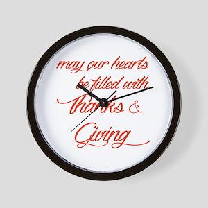Thanks&Giving Wall Clock