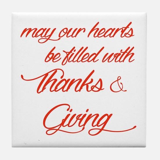 Thanks&Giving Tile Coaster