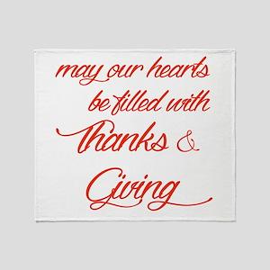 Thanks&Giving Throw Blanket