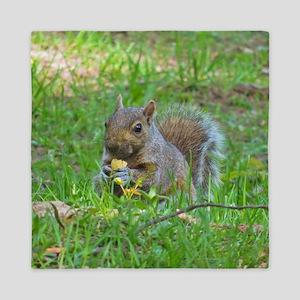 Grey Tree Squirrel Queen Duvet