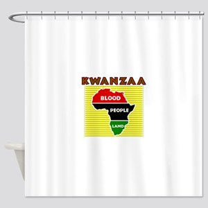 Kinara with lit candles Shower Curtain