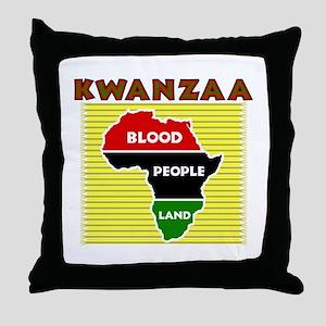 Kinara with lit candles Throw Pillow