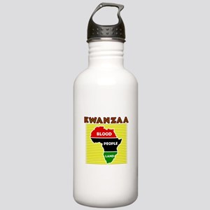 Kinara with lit candles Water Bottle