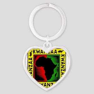 Celebrate Kwanzaa african print Keychains