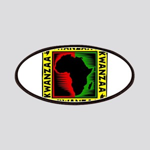 Celebrate Kwanzaa african print Patches