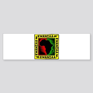 Celebrate Kwanzaa african print Bumper Sticker
