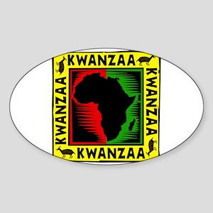 Celebrate Kwanzaa african print Sticker