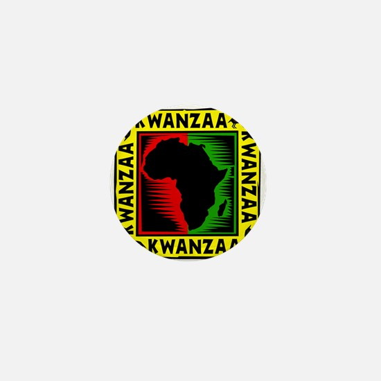 Celebrate Kwanzaa african print.png Mini Button