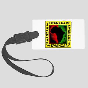 Celebrate Kwanzaa african print Luggage Tag