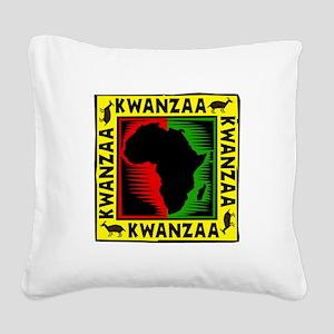 Celebrate Kwanzaa african print Square Canvas