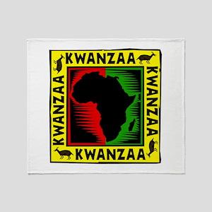 Celebrate Kwanzaa african print Throw Blanket
