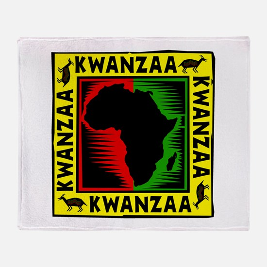Celebrate Kwanzaa african print.png Throw Blanket