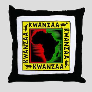 Celebrate Kwanzaa african print Throw Pillow