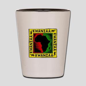 Celebrate Kwanzaa african print Shot Glass