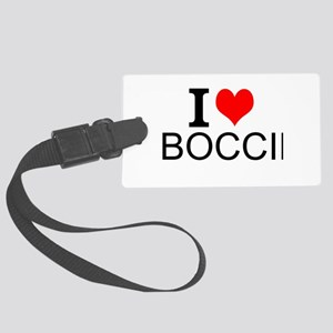 I Love Boccie Luggage Tag