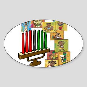 Celebration of Kwanzaa kinara & collage Sticke