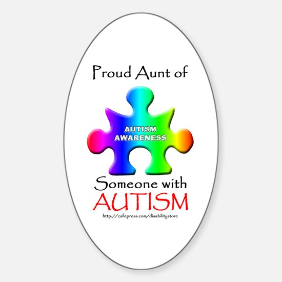 Proud Aunt Oval Decal