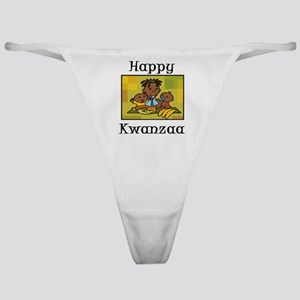 Happy Kwanzaa Family with babies Classic Thong