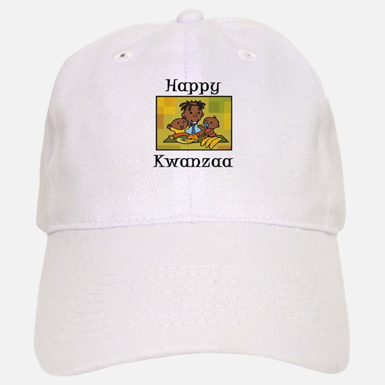 Happy Kwanzaa Family with babies.png Baseball Baseball Baseball Cap