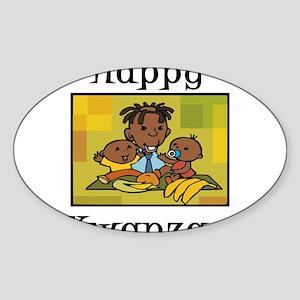 Happy Kwanzaa Family with babies Sticker