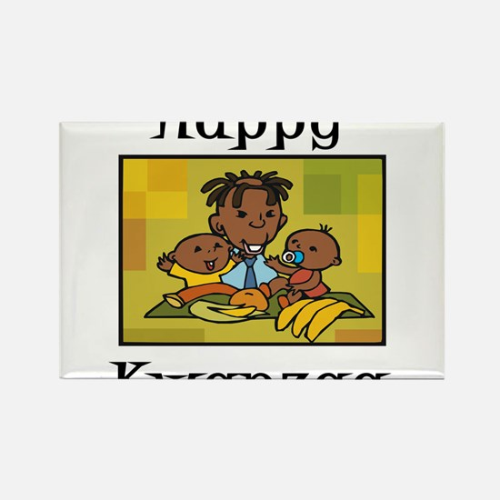 Happy Kwanzaa Family with babies.png Magnets