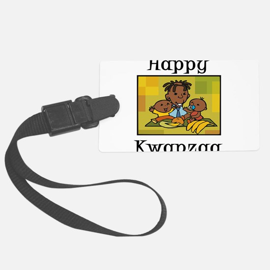 Happy Kwanzaa Family with babies.png Luggage Tag