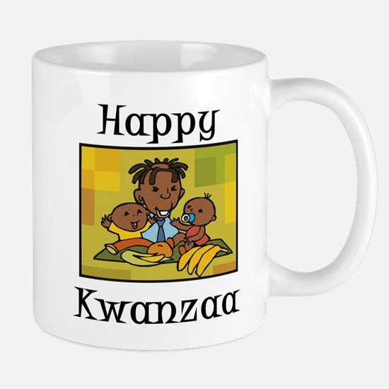 Happy Kwanzaa Family with babies.png Mugs