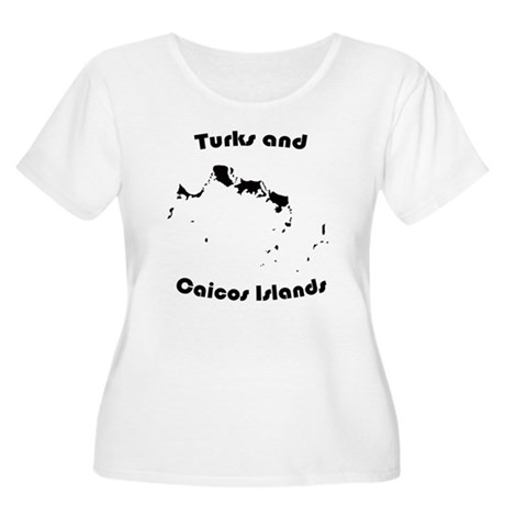 Turks and Caicos Women's Plus Size Scoop Neck T-Sh