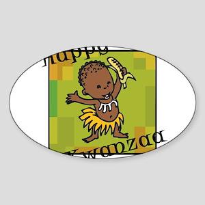 Happy Kwanzaa little Boy dancing with corn Sti