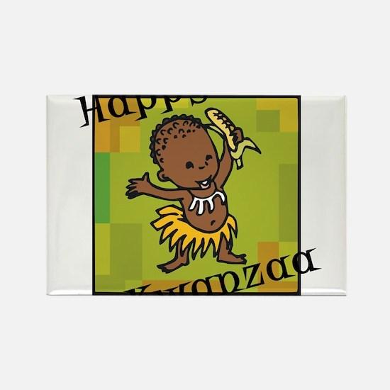 Happy Kwanzaa little Boy dancing with corn.png Mag