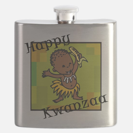 Happy Kwanzaa little Boy dancing with corn.png Fla