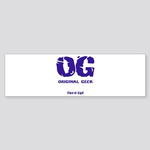 Original Geek Bumper Sticker