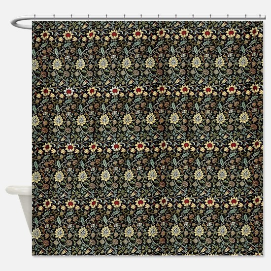 William Morris Green Evenlode Shower Curtain
